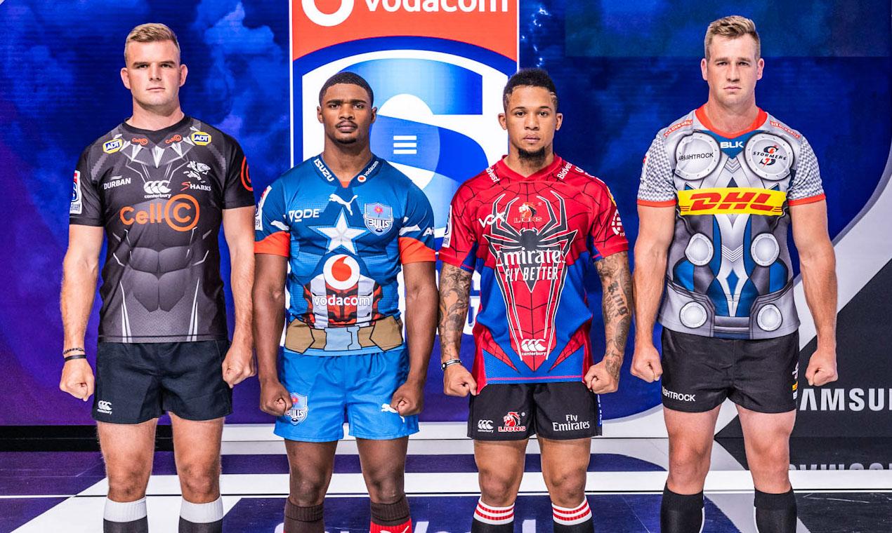 Los equipos sudafricanos de Super Rugby revelan las camisetas Marvel 2020