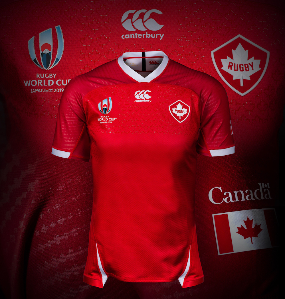 Canadá lanza camisetas de la Copa Mundial de Rugby 2019